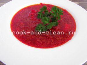 борщ пошаговый рецепт