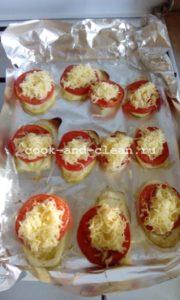 запеченные кабачки с сыром и помидорами