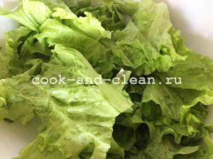 салат цезарь фото