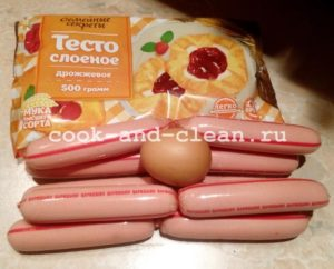сосиски в тесте рецепт в духовке