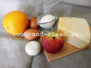 Салат с апельсинами и яблоками