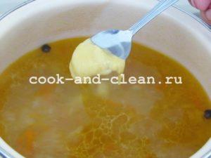 вкусный суп с клецками