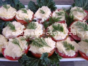 помидоры с сыром закуска рецепт