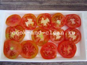 помидоры с чесноком и сыром закуска
