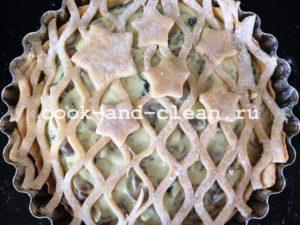 простой пирог с грибами