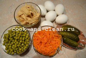 салаты с зеленым горошком рецепты с фото