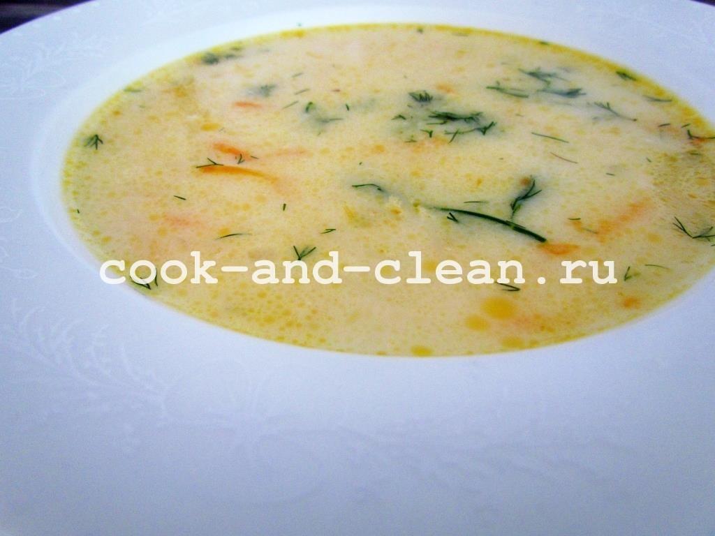 сырный суп пошагово фото