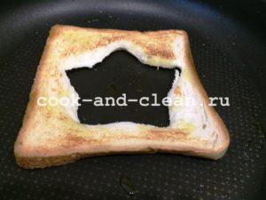 горячие бутерброды с яичницей