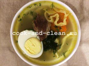 домашняя лапша для супа пошаговый