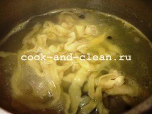 домашняя лапша для супа рецепт с фото
