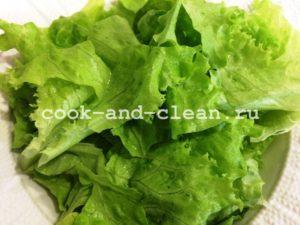 как приготовить салат цезарь с креветками