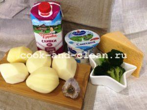 картофель запеченный с цветной капустой