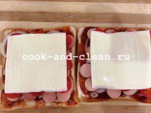 рецепт мини пиццы на хлебе