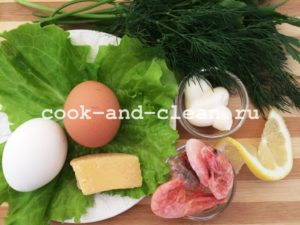 Фаршированные яйца с креветками