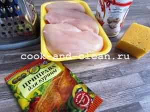 курица грибы сыр в духовке рецепт