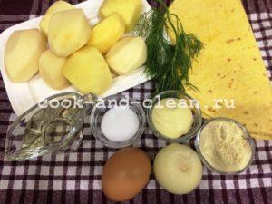 лаваш с картофельным пюре