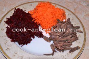 рецепт салата пошагово козел в огороде