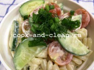 салаты с пастой рецепты с фото