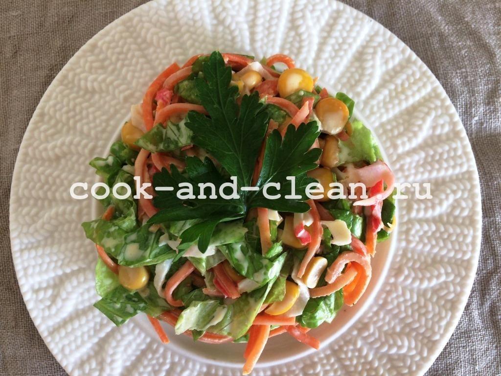 салат с морковью по корейски рецепт простой