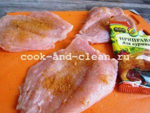 филе курицы с грибами и сыром