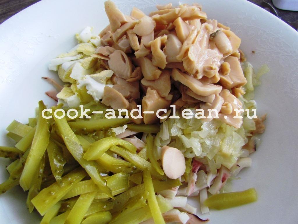 кальмар салат рецепт