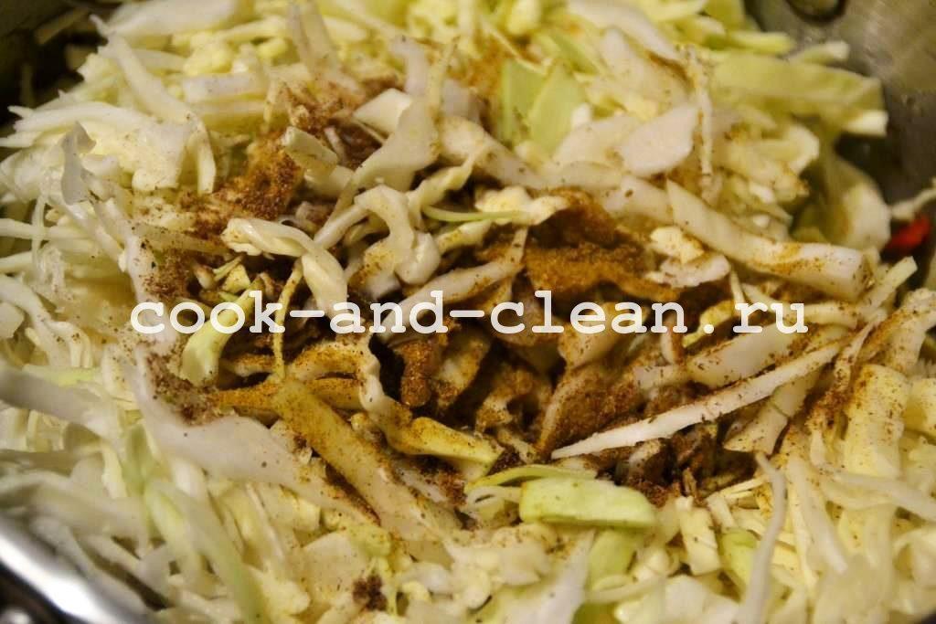 капуста тушеная с грибами фото