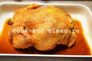 курица запеченная с яблоками в духовке