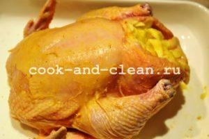 курица с яблоками в духовке пошаговый