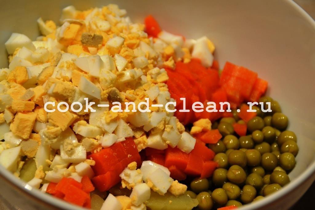 оливье рецепт с огурцом
