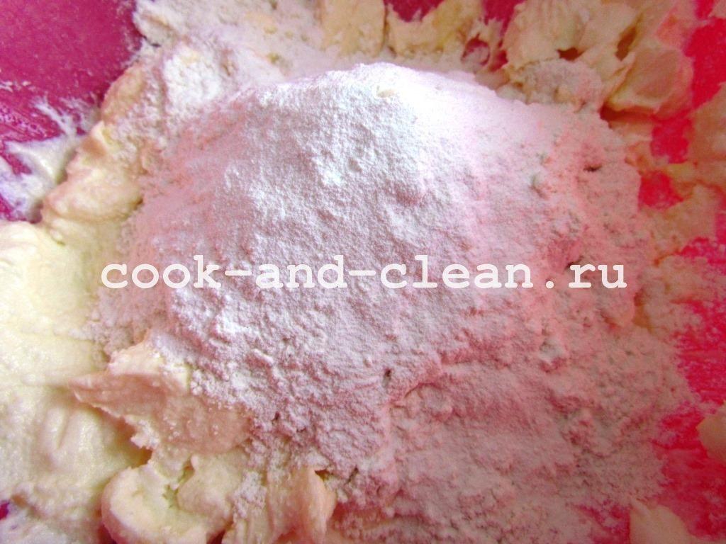 печенье из творога ушки с сахаром