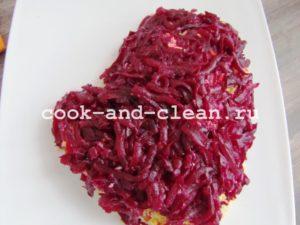 салат сельдь под шубой слои