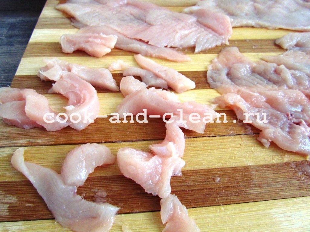 бефстроганов из филе курицы