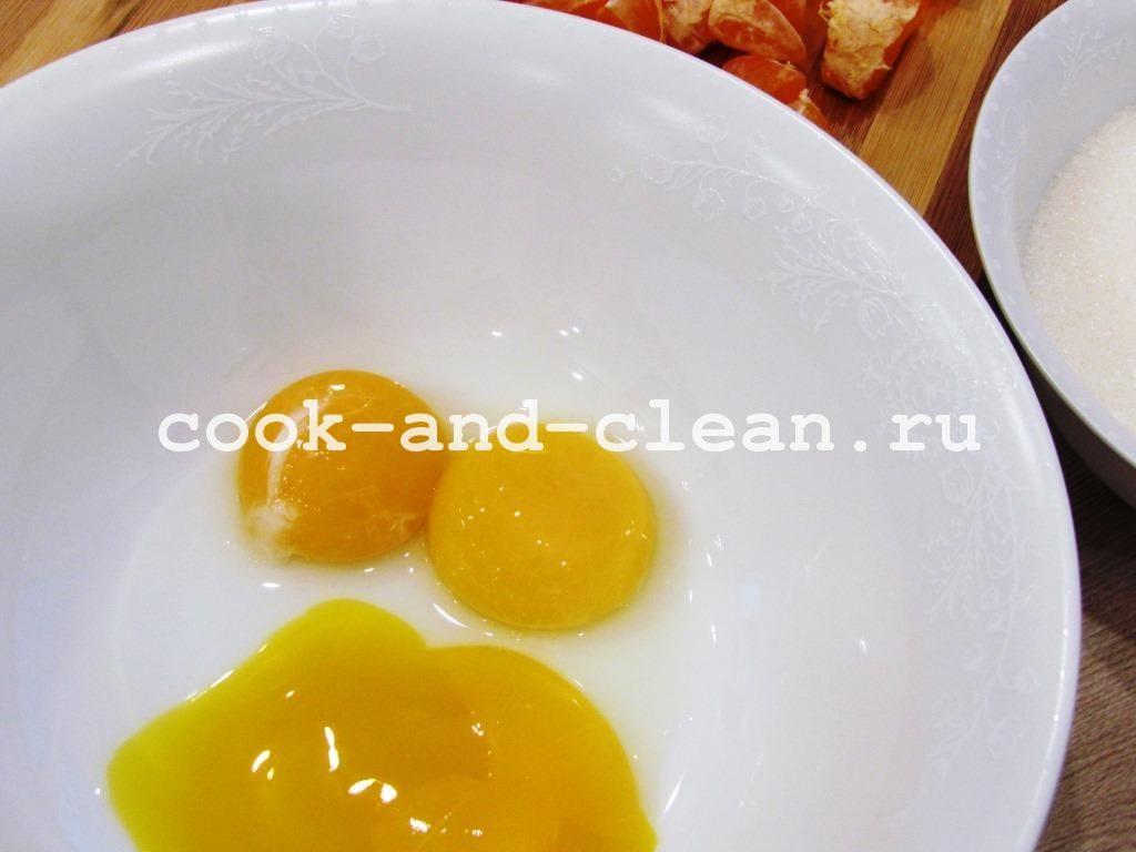 кекс мандариновый рецепт