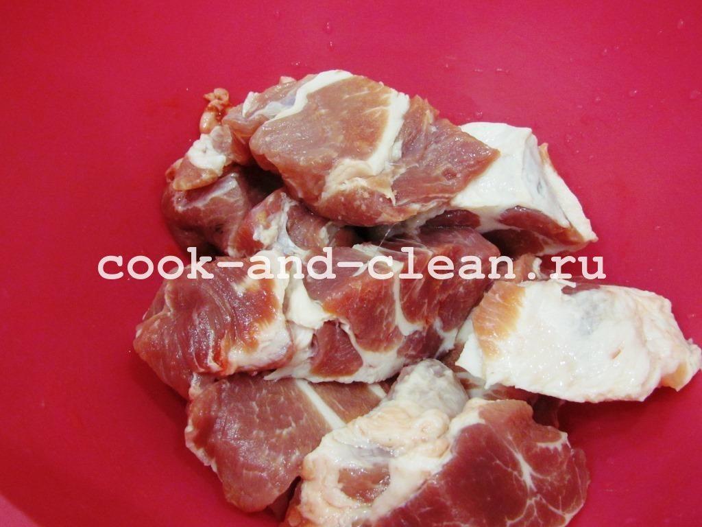 классический шашлык из свинины