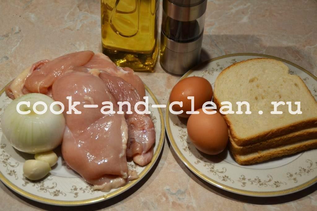 котлеты из куриного фарша рецепт