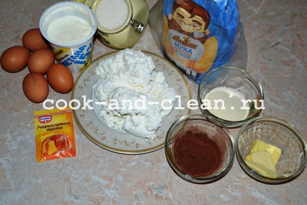 шоколадно творожный пирог рецепт