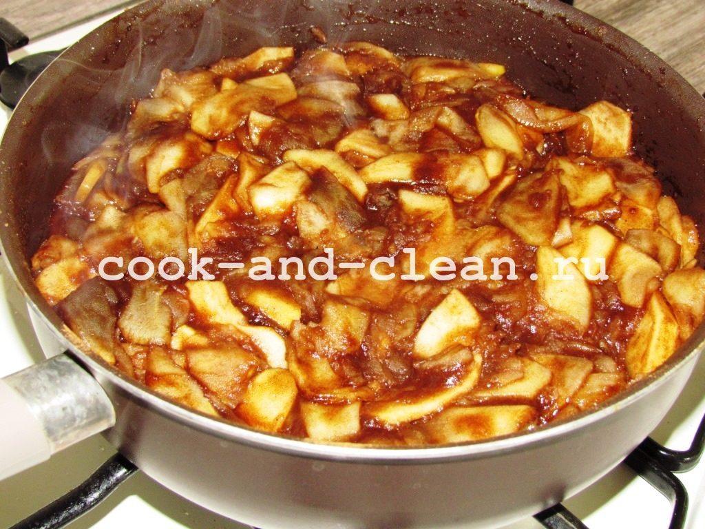 яблочный штрудель простой рецепт