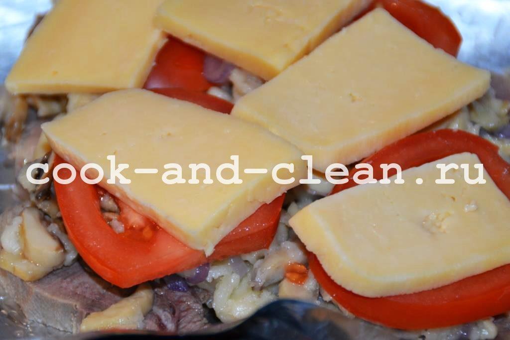 запечь язык с сыром