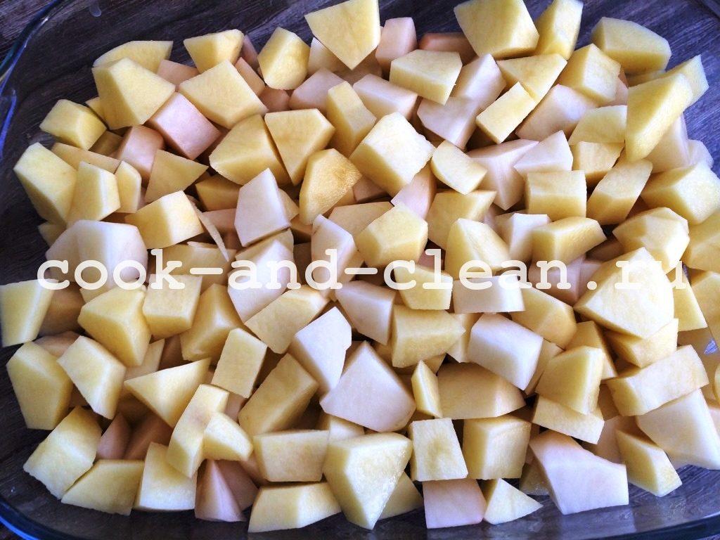 рецепт запеченной картошки с мясом