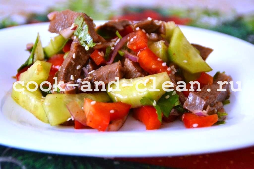 салат с языком и огурцом рецепты