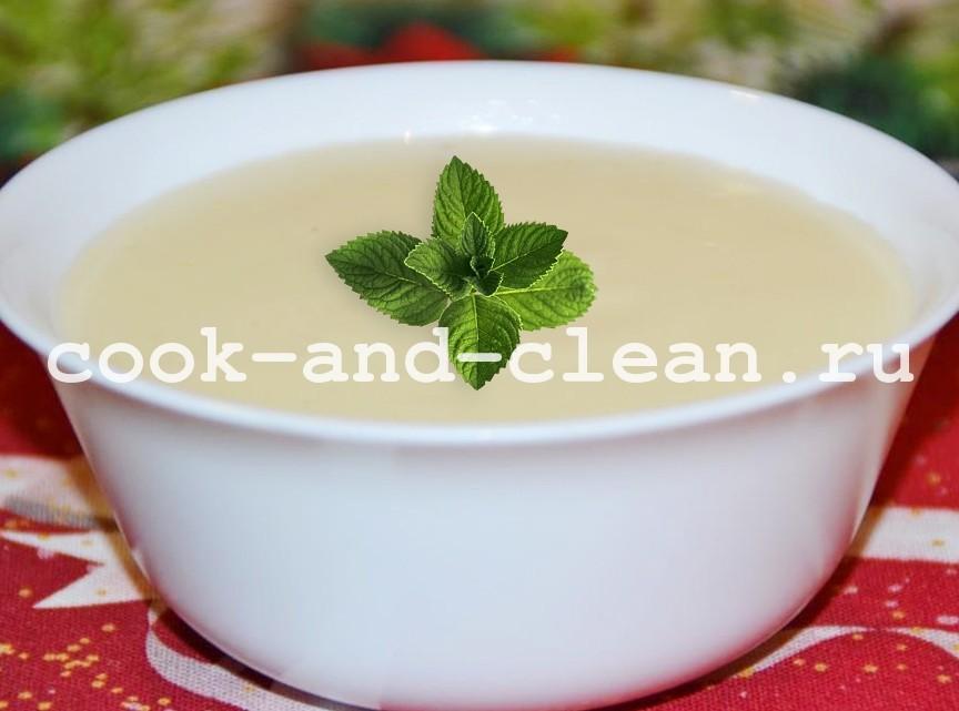 сладкий молочный соус приготовление
