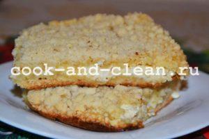 творожно песочный пирог рецепт