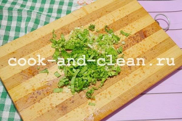 вкусный салат из черемши рецепт