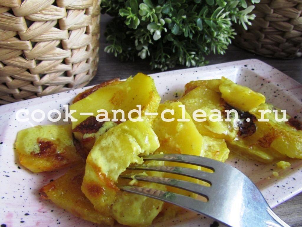 картофель в сливках в духовке