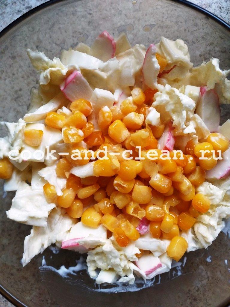 пекинская капуста и крабовые палочки салат рецепт
