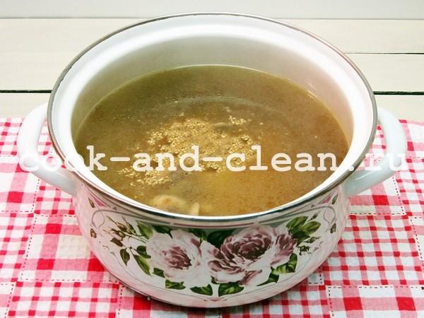 рецепт супа из шампиньонов фото