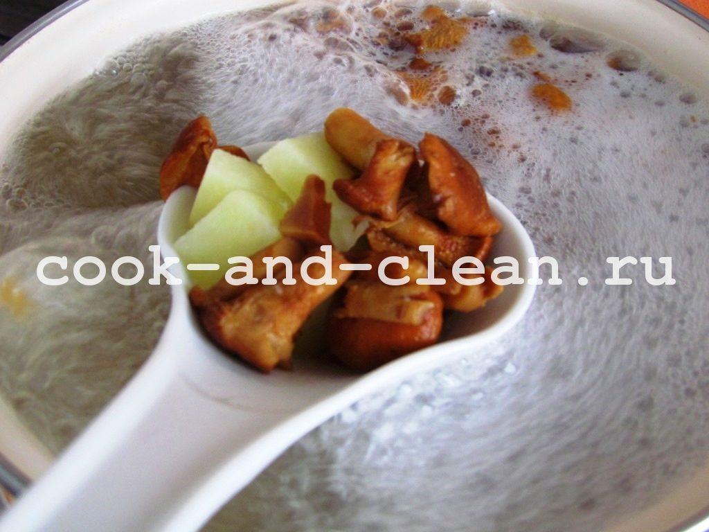 рецепт суп с галушками пошагово