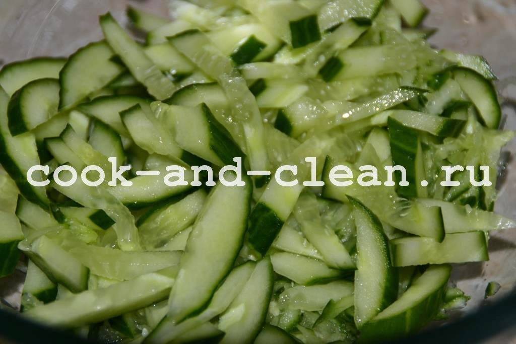 салаты с рисовой лапшой рецепты с фото