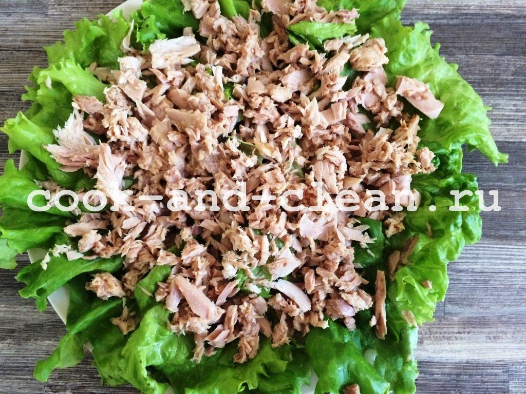 салат с тунцом консервированным рецепт