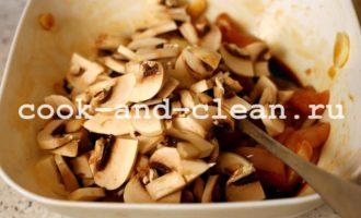 запеканка с курицей грибами и картофелем